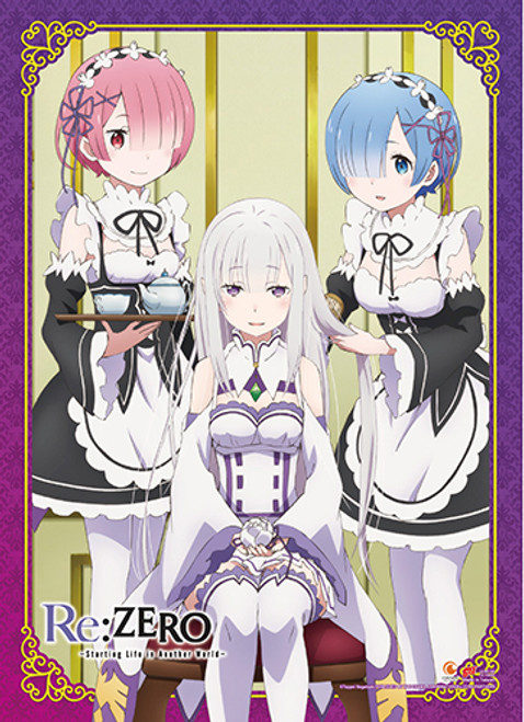Re:Zero Emilia With Rem, and Ram Wall Scroll