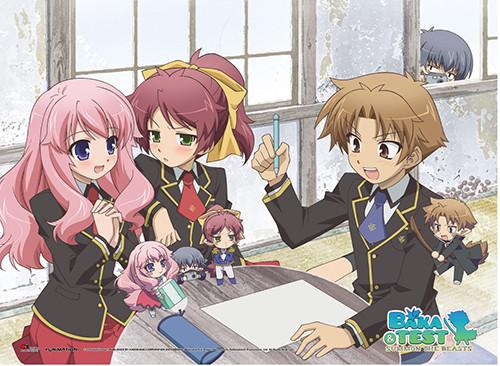 Baka And Test - Yoshii, Himeji, Minami, And Kouta Wall Scroll