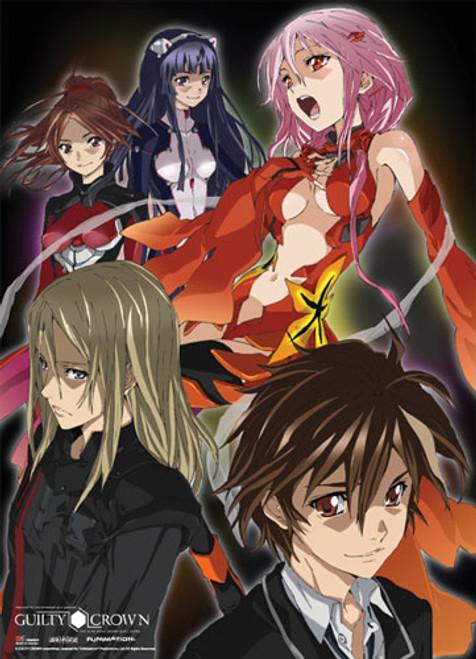 Guilty Crown - Shu, Inori, Gai, Tsugumi, And Ayase Wall Scroll