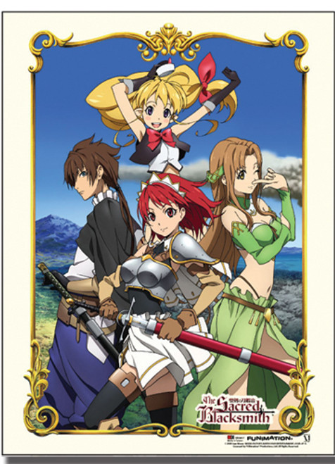 Sacred Blacksmith Luke, Cecily, Aria, and Lisa Wall Scroll