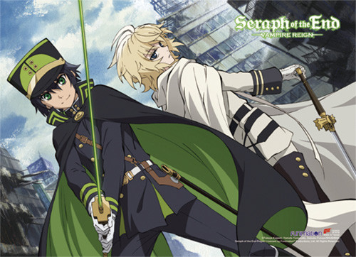Seraph Of The End Yuichiro, and Mika Wall Scroll