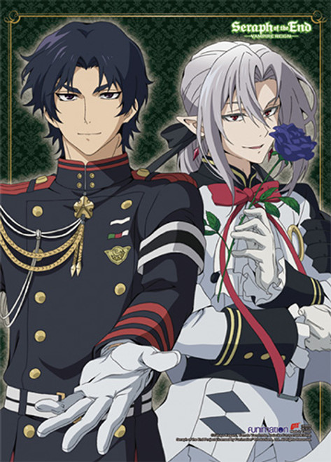Seraph Of The End Ferid, and Guren Wall Scroll