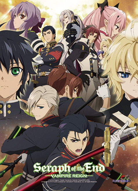 Seraph Of The End Group High End Wall Scroll