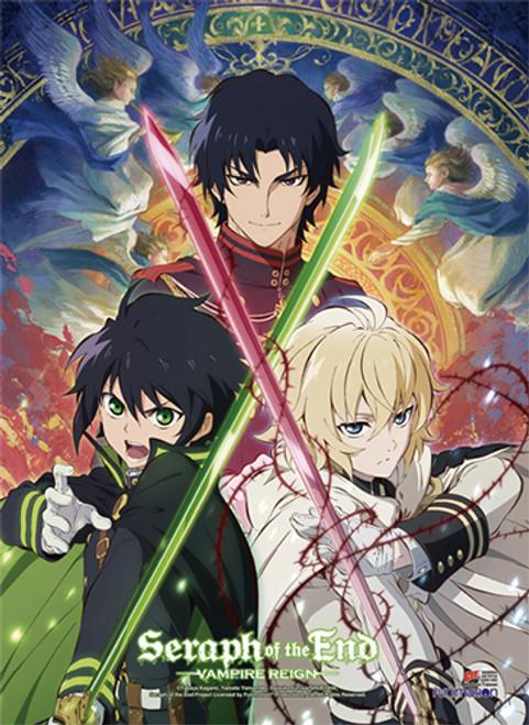 Seraph Of The End Yuichiro, Mika, and Guren Wall Scroll