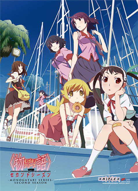 Monogatari Series Girls Group Wall Scroll