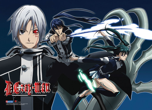 D. Gray-man - Allen, Yu, And Lenalee Wall Scroll