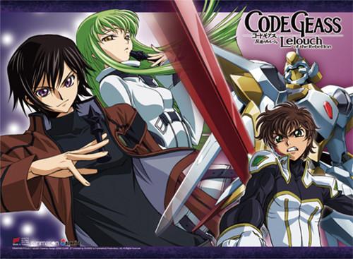 Code Geass - Lelouch, C.C., And Suzaku Wall Scroll