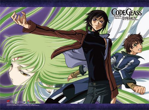 Code Geass - Suzaku, Lelouch, And C.C. Wall Scroll