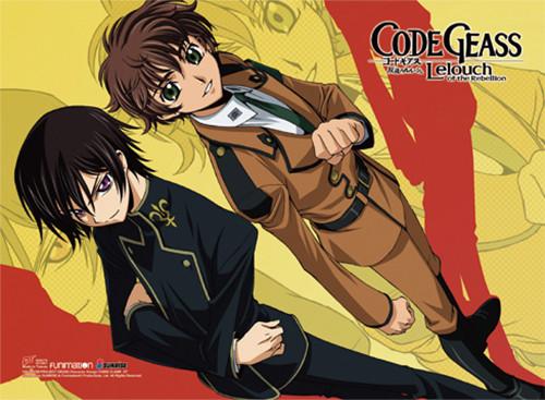 Code Geass - Suzaku And Lelouch In Uniforms Wall Scroll