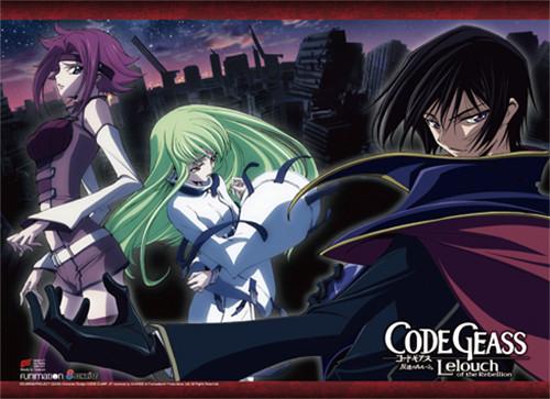 Code Geass - Kallen, Lelouch Dressed As Zero, And C.C. High End Wall Scroll