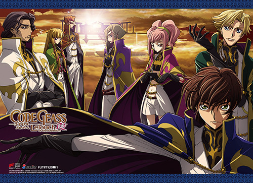 Code Geass S. 2 - Suzaku With The Knights Of The Round Wall Scroll