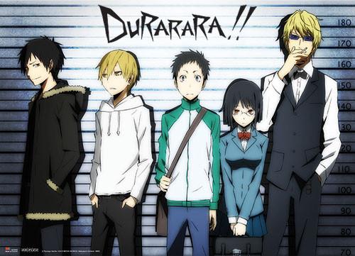 Durarara!! - Izaya, Masaomi, Mikado, Anri, And Shizuo Wall Scroll