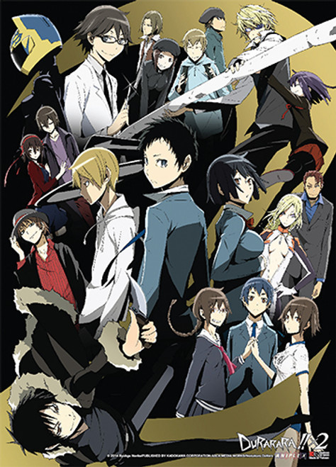 Durarara!! X2 - Anri, Celty, Izaya, Shizuo, Mikado, And Masaomi Key Art Wall Scroll