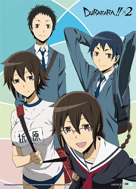Durarara!! X2 - Kururi, Mikado, Anri, And Aoba Wall Scroll