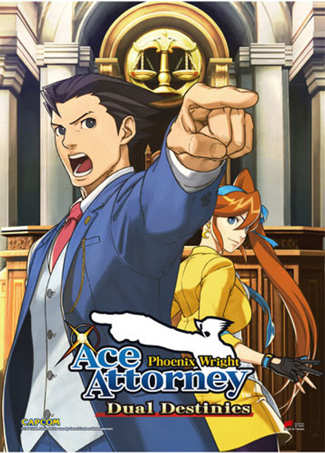 Ace Attorney - Phoenix And Athena Wall Scroll