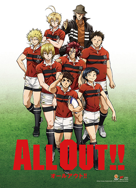 All Out!! - Kanagawa High School Rugby Club Key Art Wall Scroll