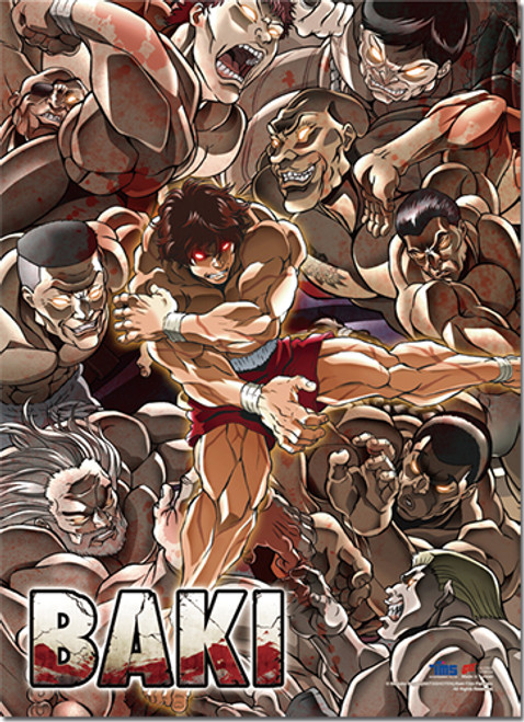 Baki - Baki, Doppo, And Kaioh Key Art Wall Scroll