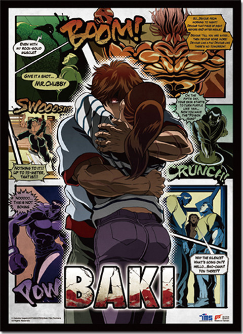 Baki - Baki Holding Kozue Key Art Wall Scroll