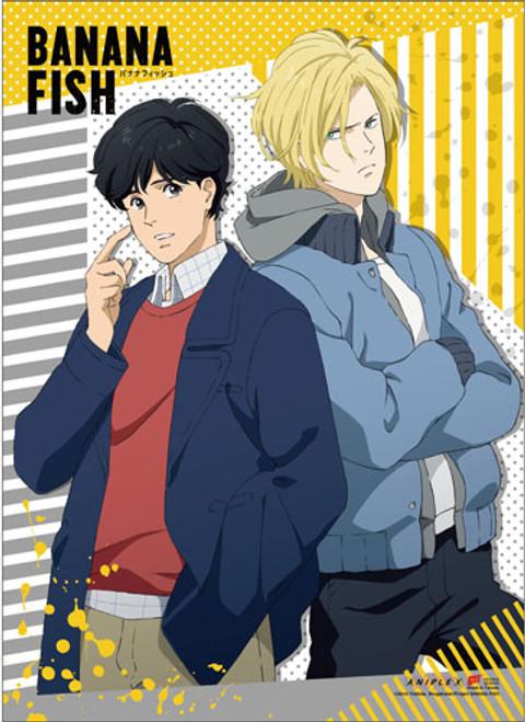 Banana Fish - Eiji And Ash Back To Back Wall Scroll