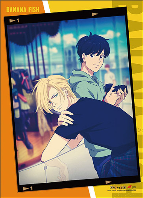 Banana Fish - Eiji And Ash Having Picture Taken Wall Scroll
