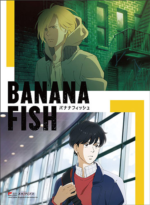 Banana Fish - Ash And Eiji In Different Environments Key Art Wall Scroll