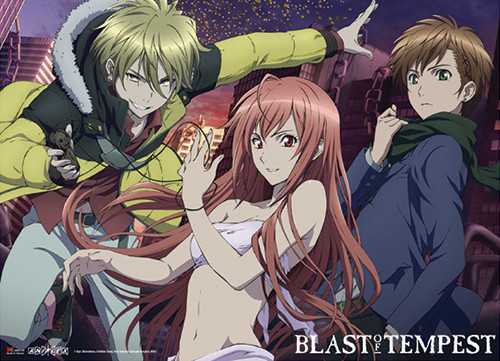 Blast Of Tempest - Yoshino, Hakaze, And Mahiro Wall Scroll