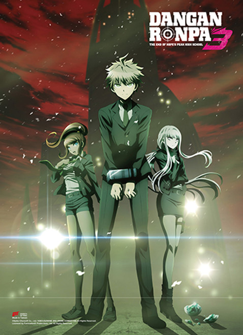 Dangonronpa 3 - Makoto, Kyoko, And Aoi Key Art Wall Scroll