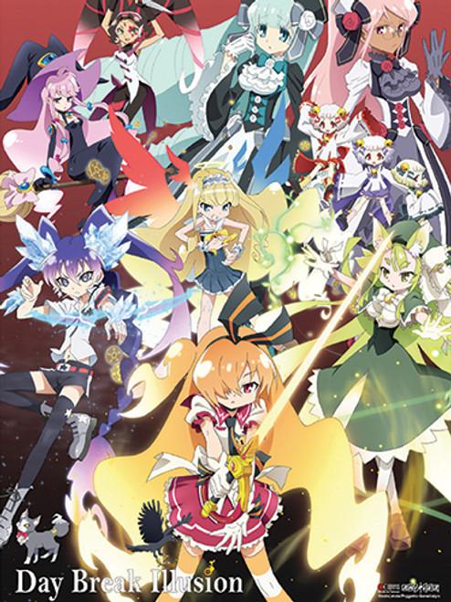 Day Break Illusion - Akari, Ginka, Seira, And Luna Key Art Wall Scroll