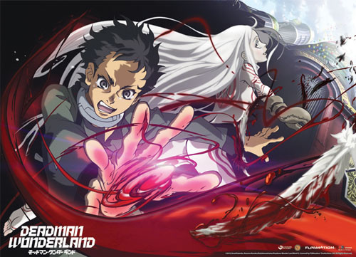 Deadman Wonderland - Shiro And Ganta using Ganta Gun Wall Scroll