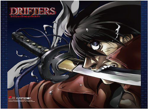 Drifters - Shimazu Toyohisa With His Sword In His Mouth Wall Scroll