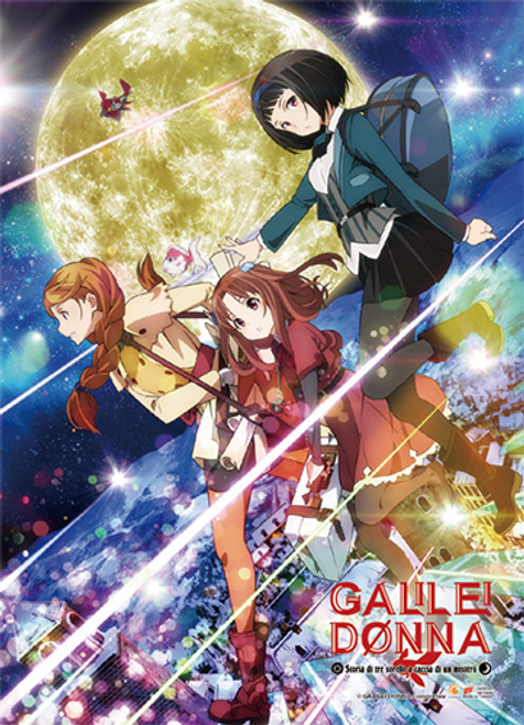 Galilei Donna - Hazuki, Kazuki, And Hozuki With The Moon In The Background Wall Scroll