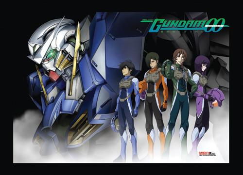 Gundam 00 - Setsuna, Tieria, Lyle, Allelujah, And Exia Wall Scroll