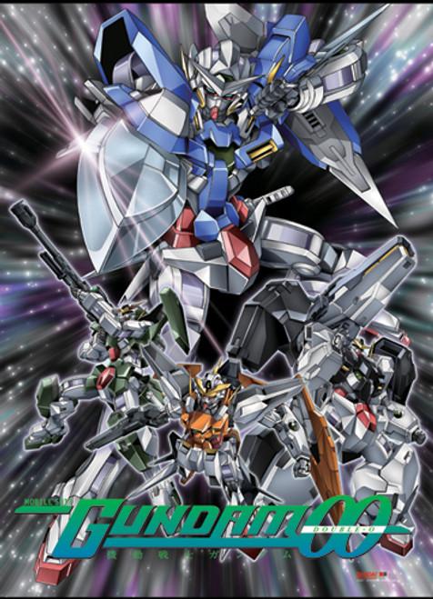 Gundam 00 - Exia, Virtue, Kyrios, And Dynames Wall Scroll