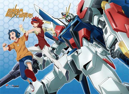 Gundam Build Fighters - Sei, Reiji, GAT-X105B Build Strike Gundam Wall Scroll