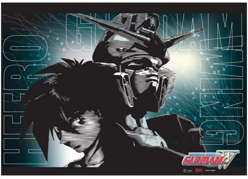 Gundam Wing - Heero And Wing Gundam Wall Scroll
