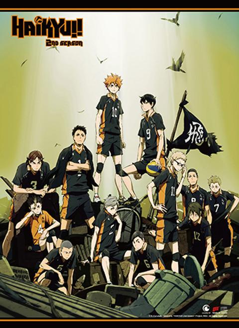 Haikyuu!! - Karasuno High's Team Key Art Wall Scroll