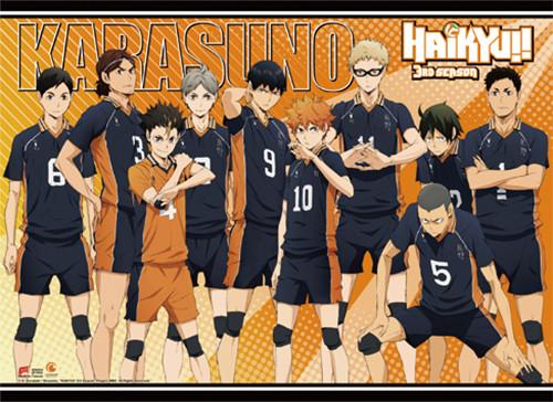 Haikyuu!! S3 - Karasuno High Ready To Win Wall Scroll
