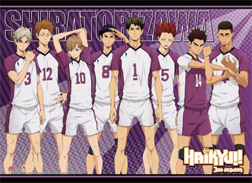 Haikyuu!! S3 - Shiratorizawa Academy's Team Wall Scroll