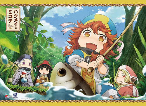 Hakumei to Mikochi Hakumei, Mikochi, Konju, and Sen Fishing Wall Scroll