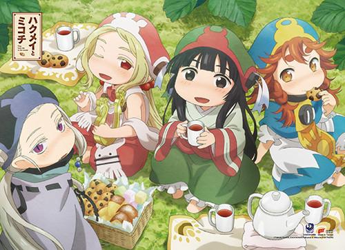 Hakumei to Mikochi Hakumei, Mikochi, Sen, and Konju Having A Picnic Wall Scroll