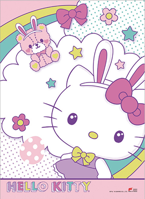 Hello Kitty Celebrating Easter Wall Scroll