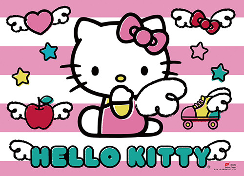 Hello Kitty With Wings Wall Scroll