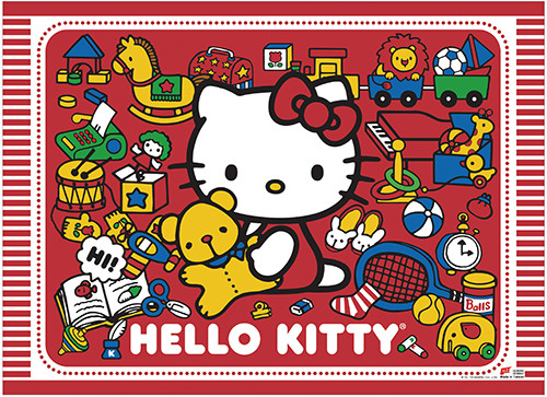 Hello Kitty With Her Toys Wall Scroll