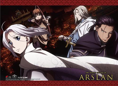 Heroic Legend of Arslan Daryun, Narsus, Elam, and Arslan Wall Scroll