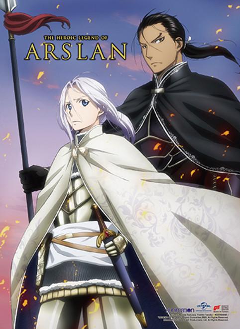 Heroic Legend of Arslan Daryun Watching Over Arslan High End Wall Scroll