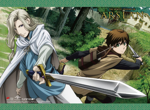 Heroic Legend of Arslan Narsus, and Elam With Swords Drawn Wall Scroll