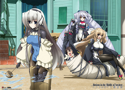 Horizon In The Middle Of Nowhere Toori, Nate, Kimi, and P-01 Wall Scroll