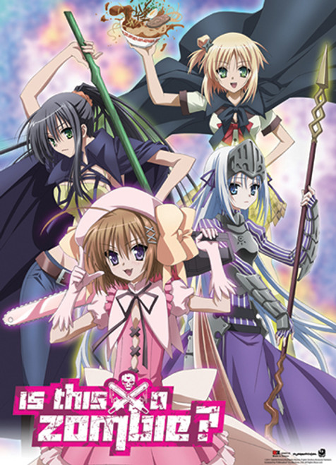 Is This A Zombie Eucliwood, Seraphim, Haruna, and Yuki Wall Scroll