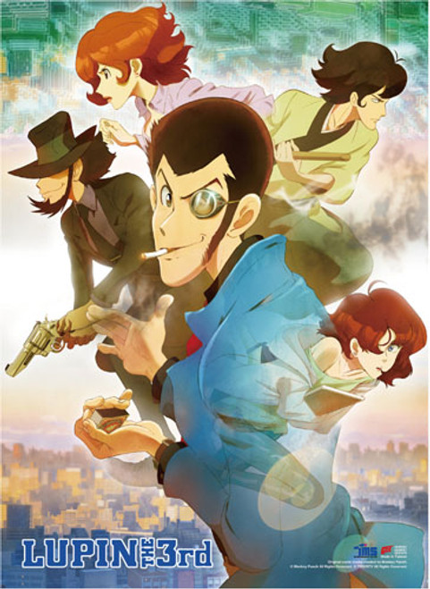 Lupin The Third Lupin, Jigen, Ami, and Ishikawa Wall Scroll