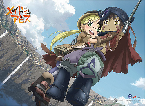 Made In Abyss Riko, and Reg Rappelling Down Wall Scroll